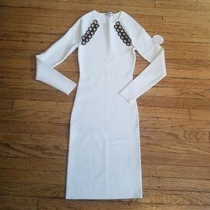 Good American Peepin Long Sleeve Dress